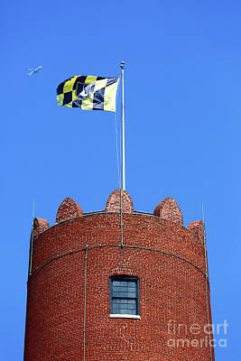 Photograph - Phoenix Shot Tower Baltimore by James Brunker