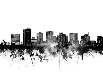 Abstract Skyline Royalty-Free and Rights-Managed Images - Phoenix Skyline Bw by Bekim M