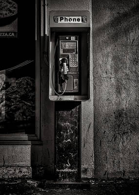 Photograph - Phone Booth No 9 by Brian Carson