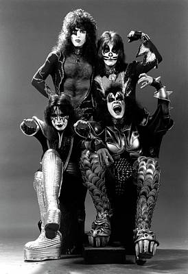 Photograph - Photo Of Ace Frehley And Peter Criss by Fin Costello