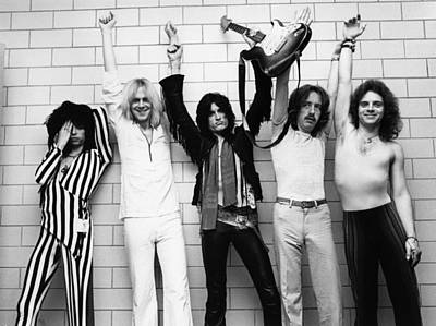 Photograph - Photo Of Aerosmith And Tom Hamilton And by Fin Costello