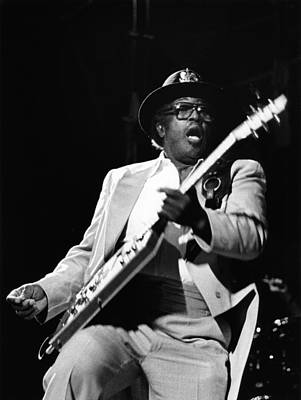 Photo Of Bo Diddley Art Print by Fin Costello