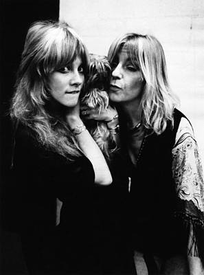Photograph - Photo Of Christine Mcvie And Stevie by Fin Costello