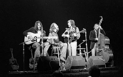Music Photograph - Photo Of Crosby, Stills, Nash & Young by Tom Copi