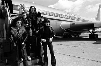 Photograph - Photo Of Deep Purple And Glenn Hughes by Fin Costello