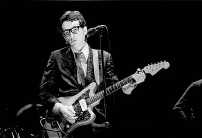 Photograph - Photo Of Elvis Costello by Richard Mccaffrey