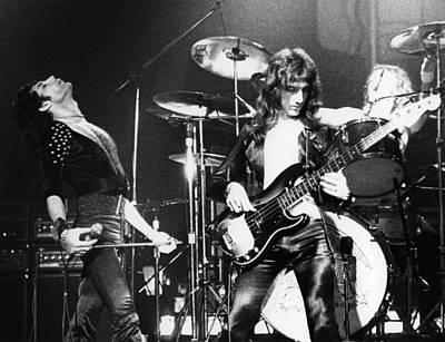 Freddie Mercury Wall Art - Photograph - Photo Of Freddie Mercury And John by Fin Costello