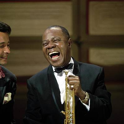Photograph - Photo Of Herb Alpert And Louis Armstrong by David Redfern