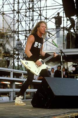 Photograph - Photo Of James Hetfield And Metallica by Mike Cameron