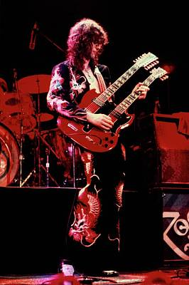 Photograph - Photo Of Jimmy Page And Led Zeppelin by Graham Wiltshire
