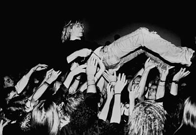 Photograph - Photo Of Kurt Cobain And Nirvana And by Paul Bergen