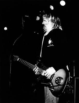 Photo Of Kurt Cobain And Nirvana Art Print by Paul Bergen
