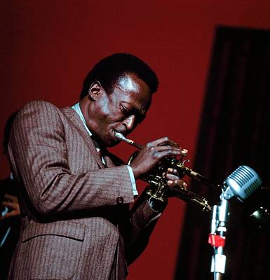 Photograph - Photo Of Miles Davis by David Redfern