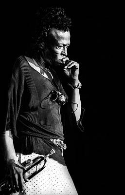 Photograph - Photo Of Miles Davis by Paul Bergen