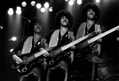 Photograph - Photo Of Phil Lynott And Thin Lizzy by Fin Costello