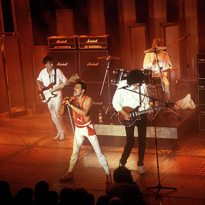 Photograph - Photo Of Queen  And Freddie Mercury And by David Redfern