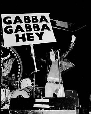 Photo Of Ramones Art Print by Larry Hulst