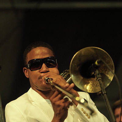 Photograph - Photo Of Trombone Shorty And Troy by David Redfern
