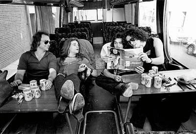 Photograph - Photo Of Van Halen And Michael Anthony by Fin Costello