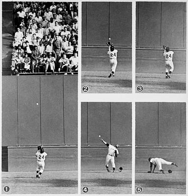 Photograph - Photo Sequence Willie Mays Makes His by New York Daily News Archive