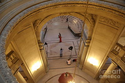Photograph - Photo Shoot Model Sf City Hall  by Chuck Kuhn