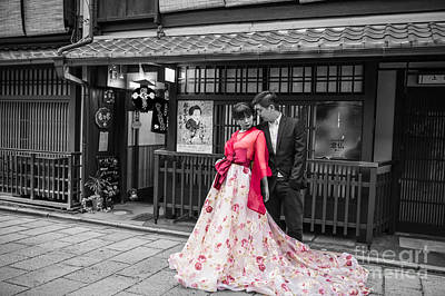 Photograph - Photo Shooting In Gion by Eva Lechner