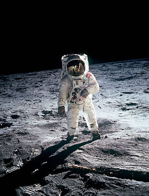 Walking Photograph - Photograph Of Edwin Aldrin Taken During by Michael Dunning