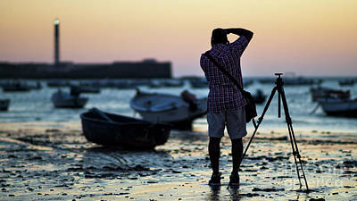 Photograph - Photographer At La Caleta Beach Cadiz Spain by Pablo Avanzini