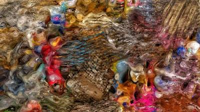 Colorful People Abstract Royalty Free Images - Photography Based Digital Abstract  Royalty-Free Image by Tom Kiebzak