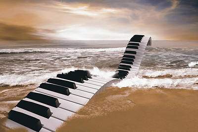 Surrealism Royalty-Free and Rights-Managed Images - Piano fantasy by Mihaela Pater