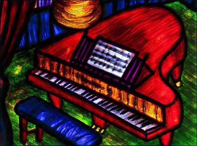 Painting - Piano by Hugo Heikenwaelder