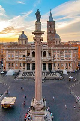 Photograph - Piazza Santa Maria Maggiore by Fabrizio Troiani