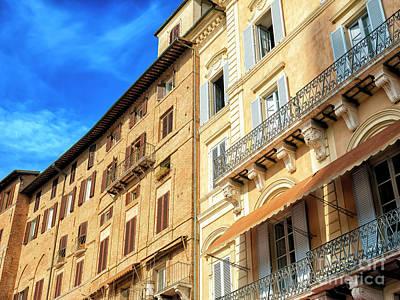 Photograph - Piazza Del Campo Architecture In Siena by John Rizzuto