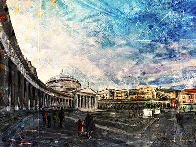 Surrealism Digital Art - Piazza del Plebiscito by Andrea Gatti
