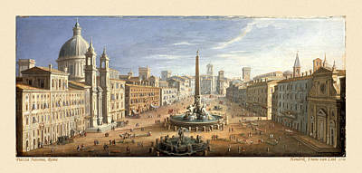 Photograph - Piazza Navona 1730 by Andrew Fare