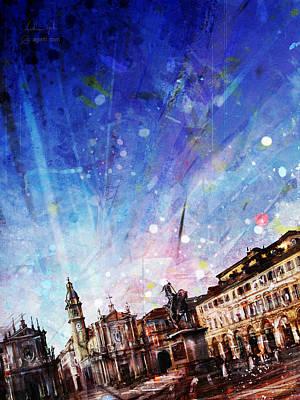Surrealism Digital Art - Piazza SanCarlo by Andrea Gatti