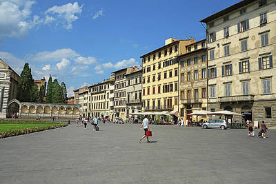 Building Wall Art - Photograph - Piazza Santa Maria Novella by Michael Gerbino