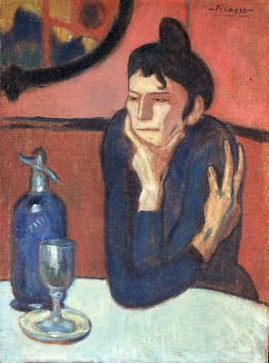 Comic Character Paintings - Picasso, Pablo - The Absinthe Drinker by Hermitage Museum