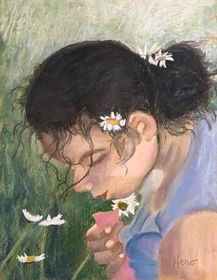 Painting - Picking Daisies by Marcia Hero