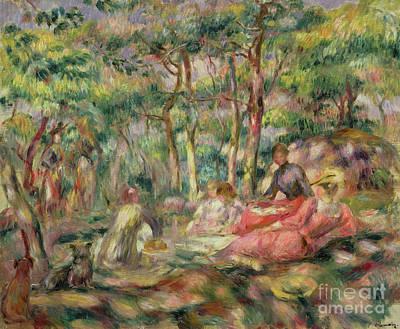 Painting - Picnic, Circa 1893 by Pierre Auguste Renoir