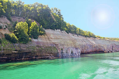 Photograph - Pictured Rocks #3 - Colorful Cliffs by Patti Deters