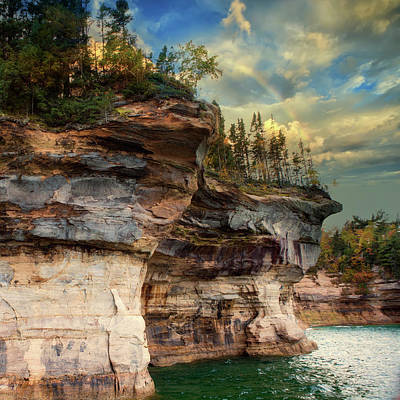 Photograph - Pictured Rocks Michigan by Evie Carrier
