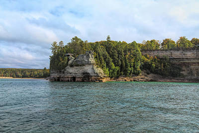 Photograph - Pictured Rocks National Lakeshore by John M Bailey