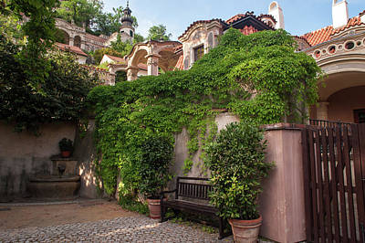 Photograph -  Picturesque Entrance To Palace Gardens Under Prague Castle 1 by Jenny Rainbow