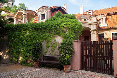 Photograph - Picturesque Entrance To Palace Gardens Under Prague Castle 2 by Jenny Rainbow