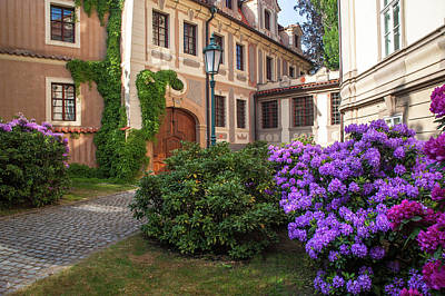 Photograph - Picturesque Kolowrat Garden With Blooming Rhododendrons 1 by Jenny Rainbow