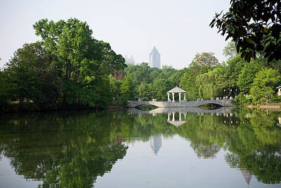 Piedmont Park In Atlanta Art Print by Rdegrie