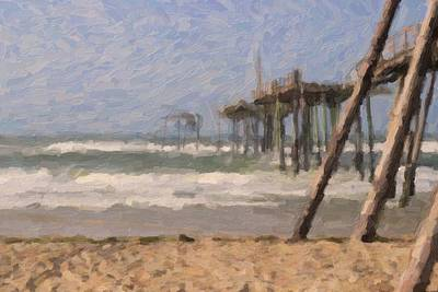 Western Art - Pier At Frisco 17 by Cathy Lindsey