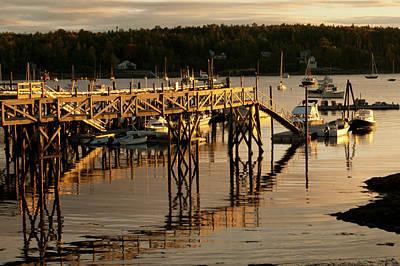 Photograph - Pier At Southwest Harbor by Paul Mangold