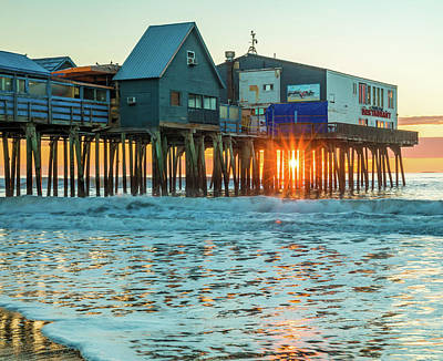 Photograph - Pier Patio Pub Sunstar by Dan Sproul